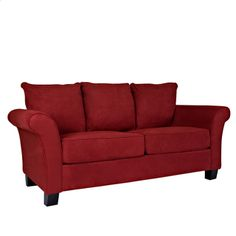 @Overstock - Portfolio Provant Flared Arm Crimson Red Microfiber Sofa - This Portfolio Provant sofa features stain-resistant microfiber upholstery for style and durability. With foam cushioning and pocketed coils, this sofa also offers comfortable seating as well as high performance.    http://www.overstock.com/Home-Garden/Portfolio-Provant-Flared-Arm-Crimson-Red-Microfiber-Sofa/5282969/product.html?CID=214117  $431.99