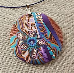 handmade polymer clay fimo and sculpey pendant - aS3