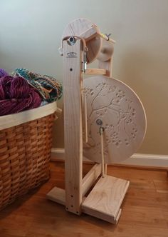 Modern Single Treadle Spinning Wheel with by HeavenlyHandspinning