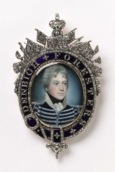 Oval miniature portrait of an officer, probably Captain Richard Lloyd, watercolour on ivory, attributed to Augustus Toussaint, 1790. Height: 10 cm, Width: 6.14 cm, Depth: 1.19 cm
