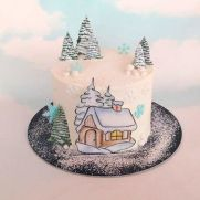 Winter cake - cake by jitapa Love Cake, Pretty Cakes, Snow Globes, Cake Decorating, Winter Cakes, Beautiful Cakes