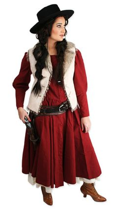 Discount Halloween-Ladies Old West Costume