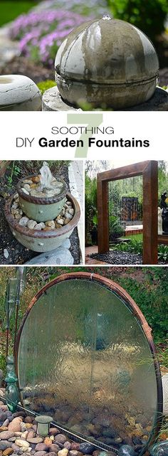 Rectangle Garden Design 7 Soothing DIY Garden Fountains Lots of ideas and tutorials!Rectangle Garden Design 7 Soothing DIY Garden Fountains Lots of ideas and tutorials! Outdoor Projects, Garden Projects, Diy Projects, Landscape Design, Garden Design, Diy Garden Fountains, Water Fountains, Fountain Garden, Outdoor Fountains