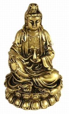 Hong Tze CollectionSmall Golden Kwan Yin Sitting On Lotus >>> Click image to review more details. (This is an affiliate link) #HomeDecorAccents