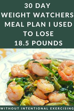 Here is the 30 Day Weight Watchers Meal Plan that Helped Me Lose Almost 20 Pounds. This 4 Week Meal Plan has amazing recipes with SmartPoints for every meal including snacks/desserts. SmartPoints are available for the Blue, Green & Purple Plans. Weight Watchers Meal Plans, Weight Watcher Dinners, Weight Watchers Diet, Ww Recipes, Vegetarian Recipes, Healthy Recipes, Healthy Meals, Chia Pudding, Healthy Weight