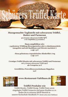 Schürers Trüffel Karte - Schürers Restaurant Tafelhaus in Backnang bei Stuttgart