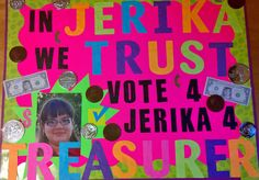Student Council Treasurer Poster