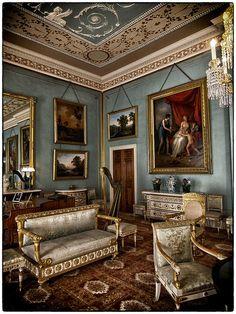 Attingham Park | Blue Drawing Room
