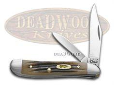 CASE XX Jigged Black Cherry Bone Peanut Stainless Pocket Knife Knives
