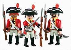 3 British Redcoat Soldiers - PM USA PLAYMOBIL® USA