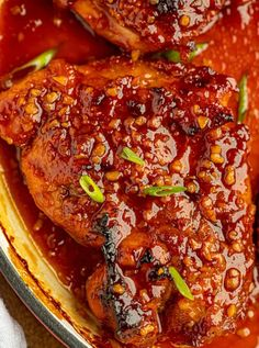 Brown Sugar Garlic Chicken is an easy skillet dinner recipe made with 3 ingredients on your stovetop or oven that will be a family FAVORITE in 30 minutes! Meat Recipes, Crockpot Recipes, Whole Food Recipes, Chicken Recipes, Dinner Recipes, Cooking Recipes, Dinner Ideas, Macaroni Recipes, Easy Skillet Dinner