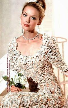 Irish crochet &: Ананасовое платье