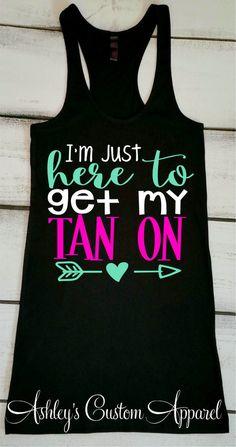 Beach Vacation Tank, Summer Tank, Cruise Shirt, Boating Tank, Vacation Shirt, At the Beach, Destination Wedding Tank, River Tanks, Lake Tank  by AshleysCustomApparel