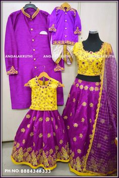Family matching dress designs by Angalakruthi Mom n me dress designs by Angalakruthi boutique Mother and Daughter matching dress designs by Angalakruthi Father and son Matching dresses desings by Angalakruthi