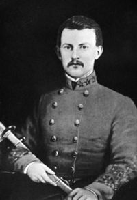 "Colonel Henry Burgwyn was a 19 year old graduate of VMI and was known as the ""Boy Colonel"". He led his 26th NC into action July 1 and was killed in action."
