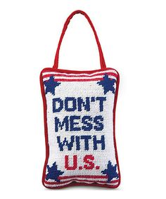 Look at this 'Don't Mess With US' Hanging Pillow on #zulily today!