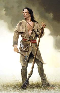 """""""""""Love this picture - used to portray a Scots-Irish Frontiersman in a documentary  (""""Born to Fight"""" - I think) David Wright art. """""""""""