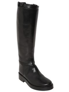 ann demeulemeester - women - boots - 30mm brushed leather riding boots