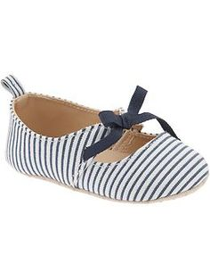 Striped Ballet Flats for Baby