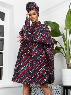 A classic, feminine style with an African-inspired, fashion-forward edge, the African print shirt dress is the perfect versatile piece for your wardrobe.  African Print Shirt, African Dress, How To Feel Beautiful, Feminine Style, Dress Making, Fashion Forward, High Neck Dress, Shirt Dress, Summer Dresses