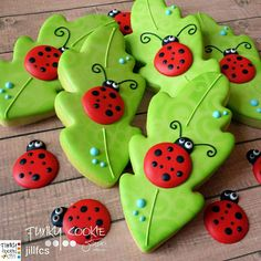 Ladybugs, leaves, insects