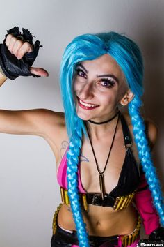 Jinx (League of Legends)  Cosplay by Marty Novotna FB page: facebook.com/MartyCosArt Photo by Spiritualy