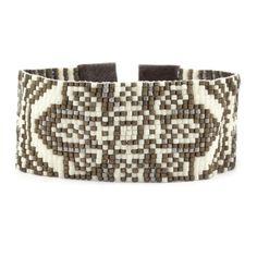 Chan Luu - Cream Mix Patterned Cuff Bracelet, $240.00 (http://www.chanluu.com/mens-bracelets/cream-mix-patterned-cuff-bracelet/)
