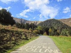 Climbing the Port de Bales (1755m) from Mauleon-Barousse - Pierre Rolland and the Tour de France came this way it seems!