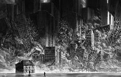 Amazing Scratchboard Illustrations of Popular Movie Settings