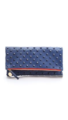 CLARE VIVIER Studded Fold Over Clutch | selected by jamesdrygoods.com for the made in america: contemporary project | #madeinusa |