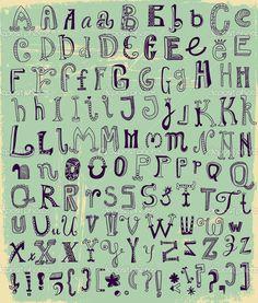 depositphotos_27316835-Whimsical-Hand-Drawn-Alphabet-Letters.jpg (872×1024)