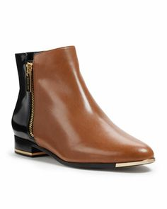 Michael Kors Cindra Two-Tone Ankle Boot.