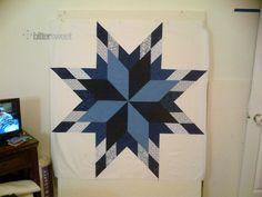 Lone Star Quilt Top - http://blog.sewbittersweetdesigns.com