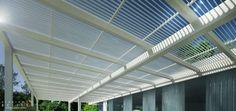 Frangisole in alluminio / per coperture / per protezione solare / orientabili motorizzati - LONGWAY TETTOIA - Tenda Service Srl