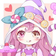 League of Legends - Bittersweet Lulu Kawaii Chibi, Cute Chibi, Kawaii Art, Anime Chibi, Kawaii Anime, League Of Legends Support, Lol League Of Legends, Starcraft, Lulu And Veigar