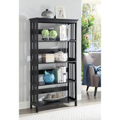 Convenience Concepts Mission 5-tier Bookcase (
