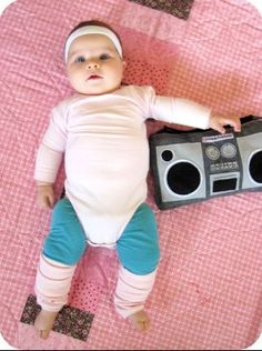 Baby's first Halloween costume idea: an aerobics instructor #adorable