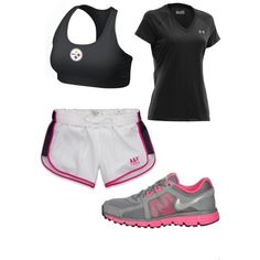 A fashion look from March 2013 featuring Abercrombie & Fitch, short-sleeve shirt and compression sports bra. Browse and shop related looks. Workout Attire, Workout Wear, Petite Fashion, Womens Fashion, Athletic Wear, Gym Time, Comfortable Outfits, Cute Shoes, Fitness Fashion