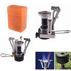 Portable Ultralight Backpacking Gas Butane Propane Canister Camp Stove Burner Survival Camping Fire tools Cooking outdoor Picnic Burner DL6 >>> Click image to review more details.