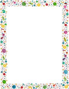 A page border with stars in different colors Free downloads at