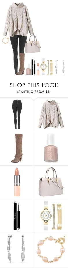 """""""Seeing My Fiancé in Southampton"""" by meganarmsby ❤ liked on Polyvore featuring Carlos by Carlos Santana, Essie, Rimmel, Christian Dior, Anne Klein, Bling Jewelry and Carolee"""