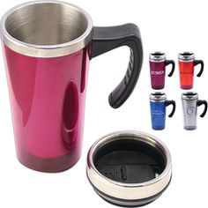 9888d66475 ... acrylic translucent travel mug with double wall thermal insulated with  stainless steel liner