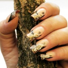 Nail Art How To: Fall Floral French Nails Tutorial