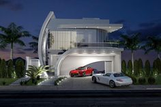 This luxury 3 bedroom house plan has a total floor area of 302 square meters which is best suited for a lot area of 420 square meters. Dream House Plans, Modern House Plans, Dream Houses, House Front Design, Modern House Design, Contemporary Architecture, Architecture Design, Fantasy House, Facade House
