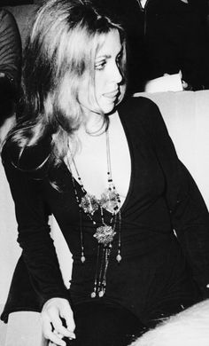 """: """" Sharon Tate at the Paris premiere of Rosemary's Baby in October of 1968 """""""