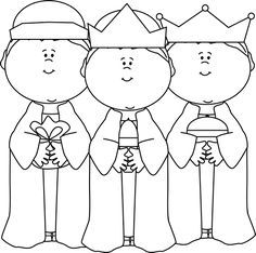 Black and White Three Wise Men Clip Art - Black and White Three Wise Men Image Mais Christmas Bible, Christmas Crafts, Christmas Design, Christmas Colors, Epiphany Crafts, Toddler Bible, Doodle People, Sunday School Crafts For Kids, Bible Story Crafts