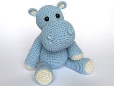 Detailed instructions and pictures help you to crochet all parts of the toy and put them together to complete the little hippo Timi. Difficulty: suitable for beginners (crochet basics needed) Material & tools: Yarn with ca. 150m/50g (Polyacryl) or 120m/5