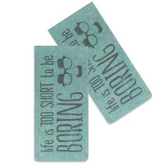 Life is Too Short to be Boring - Glasses Case