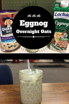 These Eggnog Overnight Oats are super festive and can be made allergy friendly!