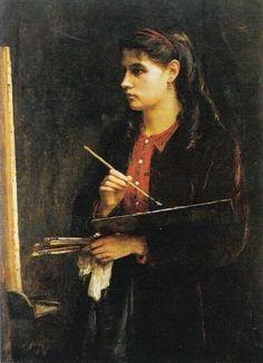 Portrait of the Artist's Sister Painting - Berthe Morisot